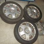 ALU VW 6,5J16 , 5x100, ET 42, Pneu 3ks. 205 55 16 Mohawk  (1)